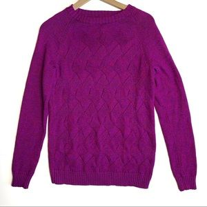 NWT Lands End Drifter Cable Sweater Size M
